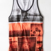 AEO Men's Photo Real Tank (Light Neon Red)