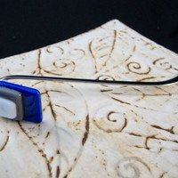 Stacked Blue Glass Bookmark by Design4Soul