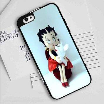 Betty Boop (holding puppy) iPhone Case