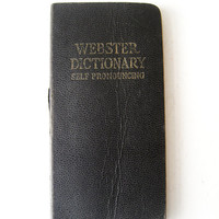 Vintage Webster Vest Pocket Dictionary Self Pronouncing Made in the USA Retro