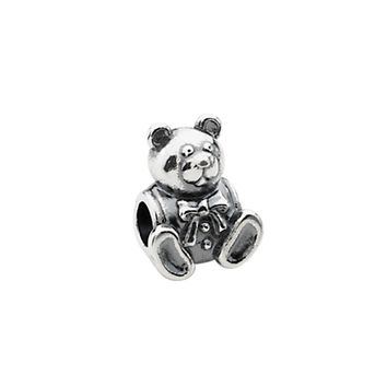 Sterling Silver Teddy Bear Bead Charm