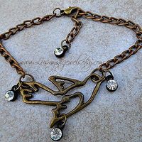 Hunger Game Anklet, Bird Anklet, Beach Jewelry, Body Jewelry, Direct Checkout