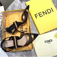 shosouvenir Fendi High heel shoes with sharp buckle net yarn