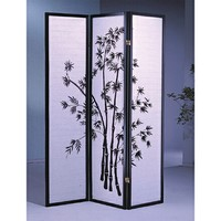 3 panel bamboo design room divider