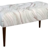 """Beau 39"""" Bench, Dove Marble, Entryway Bench"""