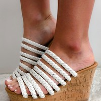 Never Say Never Wedges: White