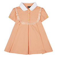 Fendi Ruffle Bib Pleated Dress | Harrods