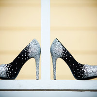 $350.00 Custom Swarovski Crystal Embellished Platform Pumps by DiscoToes