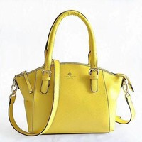DCCKFM6 katc spade Women Shopping Leather Handbag Tote Satchel Shoulder Bag Yellow