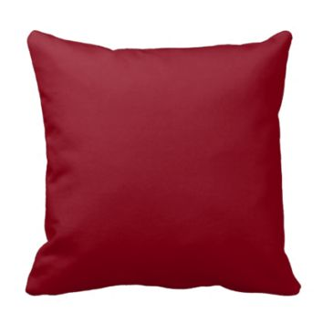 Wine Burgundy Dark Blood Red Color Only Throw Pillows