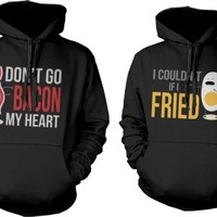 Funny Bacon and Egg Graphic Hoodies for Couples