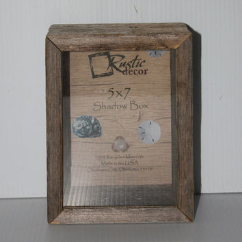 5x7 Rustic Reclaimed Wood Shadow Box