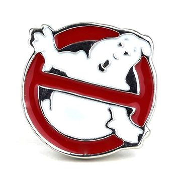 Funny Ghostbusters Logo Brooch Pin Wedding Decoration  Movie Brooch jewelry For Men & Women Metal Badge Pin Christmas Gift