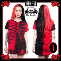Bad to the Bone Bat Royalty Tunic Tee / Dress by Iron Fist & Ash Costello