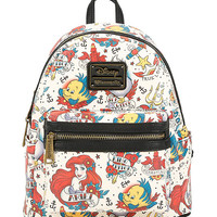 Disney The Little Mermaid Ariel Tattoo Art Mini Backpack