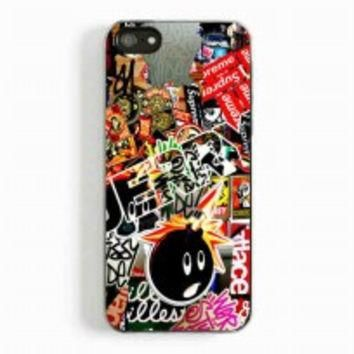 Sticker Bomb Supreme and illest for iphone 5 and 5c case
