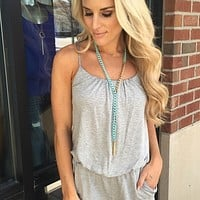 Everyday Romper - Grey : Mesh