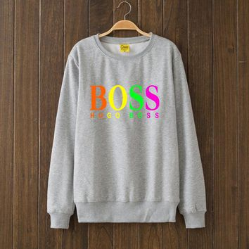 HUGO BOSS Fashion Print Top Sweater Pullover