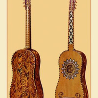The Rizzio Guitar 12x18 Giclee on canvas