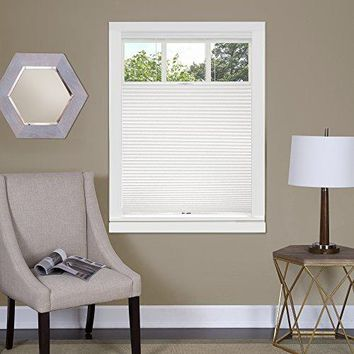 Ben&Jonah Collection Top Down-Bottom Up Cordless Honeycomb Cellular Shade 27x64 White