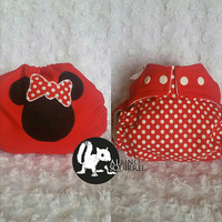 Minnie Mouse - All In One (AIO) Cloth Diaper - One-Size or Newborn, S, M, L