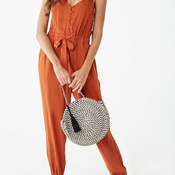 Button-Loop Cami Jumpsuit