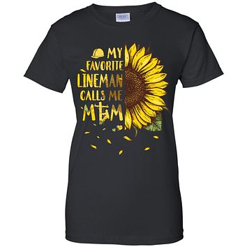 Sunflower My Favorite Lineman Calls Me Mom Mothers Day Gift