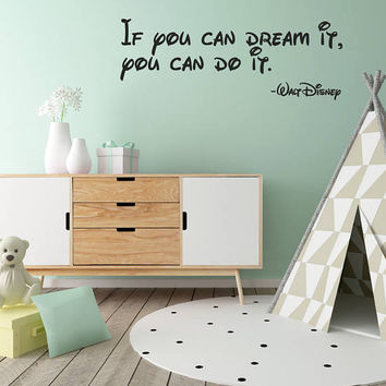Walt Disney Quote, Inspirational Quote, Disney Wall Art, Wall Sticker Quote, Nursery Wall Decal, Motivational, Vinyl, Art, Wallpaper