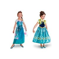 Buy Home Girl's New Frozen Fever Elsa & Anna Princess Costume Cosplay Dress