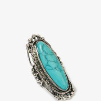 Crackled Oval Stretchy Ring | FOREVER 21 - 1023882241