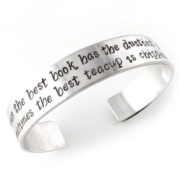 Your Words Here - Cuff Bracelet - ENGRAVED