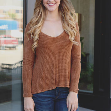 Fall Layers Top - Cinnamon