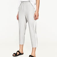 TROUSERS WITH STRIPED SIDE TRIMDETAILS