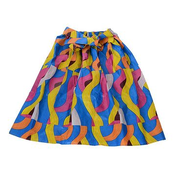 🎁 ONE DAY SALE Novarena African Dutch Ankara Wax Print Full Circle Skirt for Girls and Women African Printed Womens Casual Maxi Skirt Flared Pleated Floral Maxi Dashiki Skirts Multi Plus Size A Line High Waist Ball Gown (S-XL)