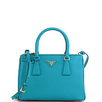Prada - Saffiano Lux Small Double-Zip Tote - Saks Fifth Avenue Mobile
