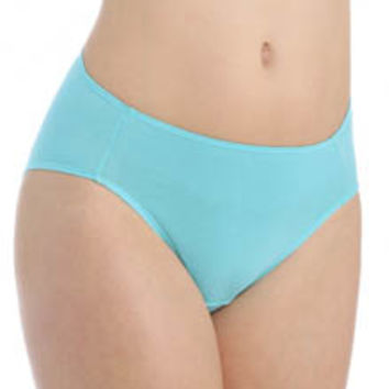 Fruit Of The Loom 6DCW254 Cotton Stretch Hi-Cut Brief Panties - 6 Pack