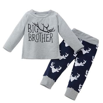 Baby Boy's 2pc Outfit w/Deer Pattern