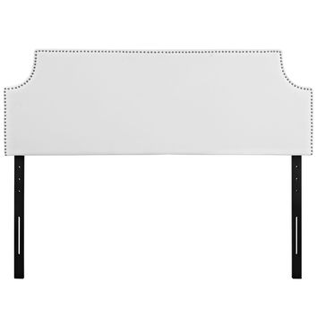 Laura Full Upholstered Faux Leather Headboard
