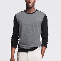Waffle Knit Terry Crew