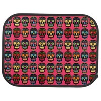 Customizable Black Sugar Skulls Floor Mat