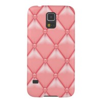 Faux Retro Pink Leather Samsung Galaxy S5 Cases