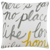 "Stylish Typography Decorative Pillow 18"" X 18"""