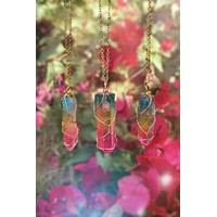 Rainbow Quartz Necklace #I1049
