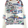 White Nameplates Print Sweater