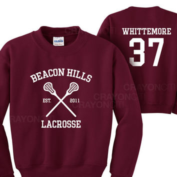 Teen Wolf Beacon Hills Lacrosse Whittemore 37 Sweatshirt