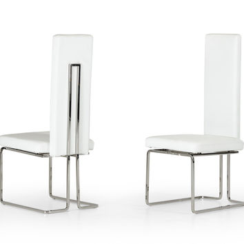 Modrest Arcadia Modern White Dining Chair