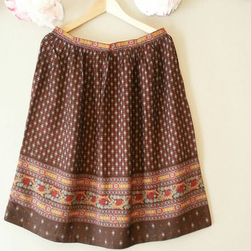 She Wished She Could Hide in Her Matroshka Doll Vintage Skirt Ladies Size Small