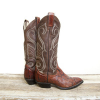 Vintage Larry Mahan Women's Cowboy Boots by highclasshillbilly