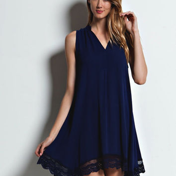 Her Majesty Navy Tunic Dress - Lucky Duck Boutique