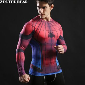 2017 TOP sale Mens Boys Compression Armour Base Layer Long Sleeve Thermal Under Top Tee Shirt New T shirt Fitness T-shirt